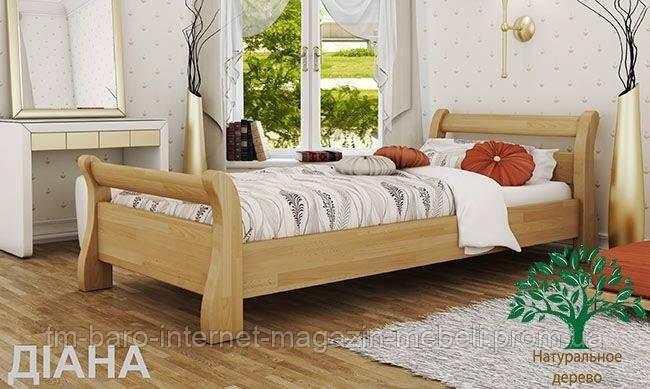 """Кровать односпальная """"Диана"""" из щита бука 90*200, Эстелла (Украина)"""