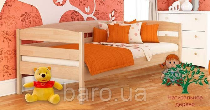 """Кровать подростковая """"Нота Плюс 102"""" из щита бука 90*200, Эстелла (Украина)"""