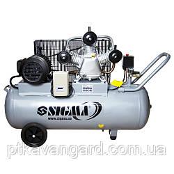 Компрессор ременной трехцилиндровый 380В 3кВт 610л/мин 10бар 135л Sigma (7044711)