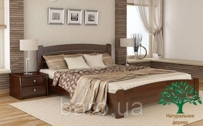 """Кровать полуторная """"Венеция Люкс"""" из массива бука 140*200, Эстелла (Украина)"""