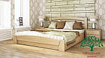 """Кровать полуторная с подъёмным механизмом """"Селена Аури"""" из щита бука 140*200, Эстелла (Украина), фото 2"""