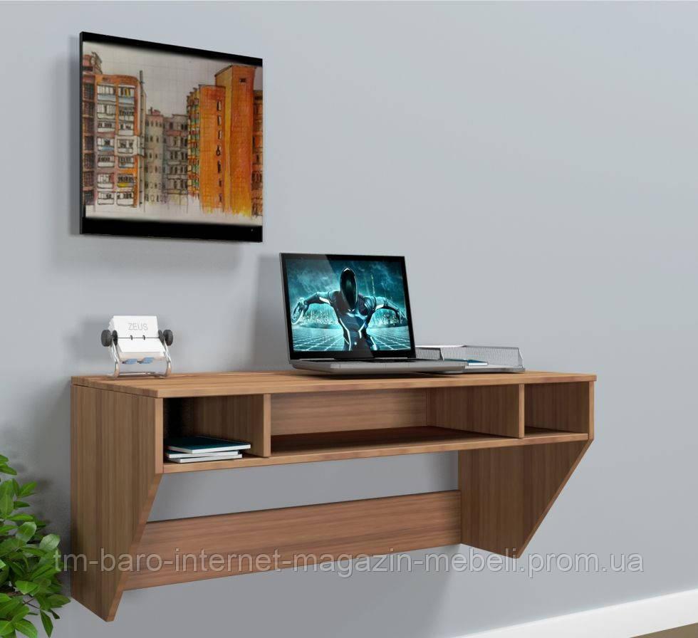 """Стол компьютерный навесной """"Zeus"""" AirTable-II LB Mini орех"""