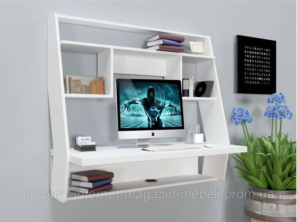 """Стол компьютерный навесной """"Zeus"""" AirTable-III WT белый"""