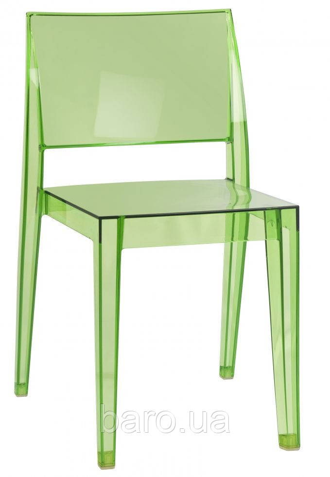 Стул GYZA прозрачно-зелёный