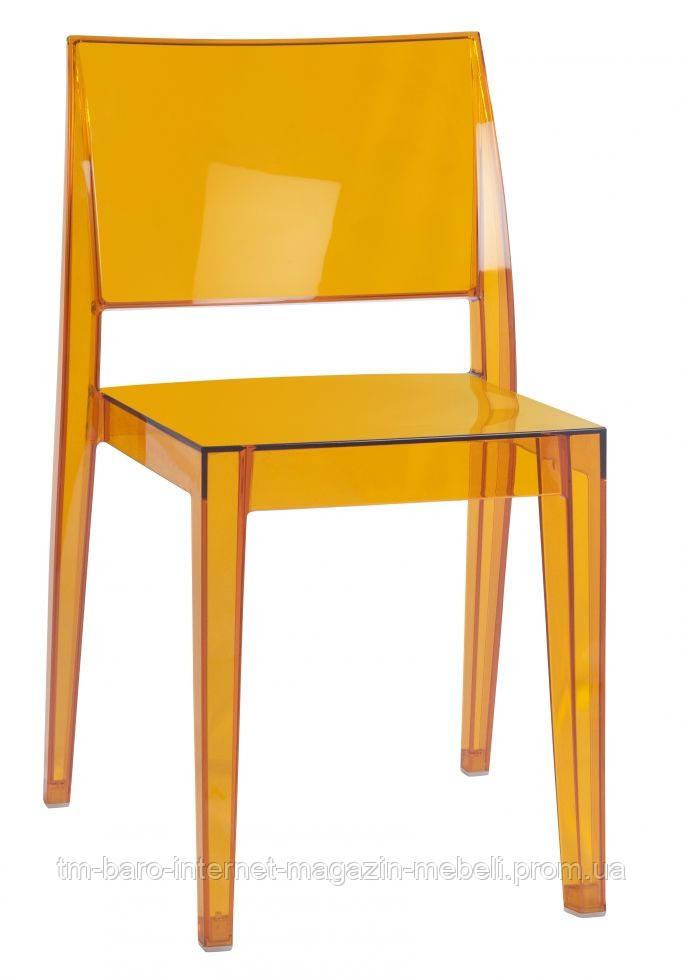 Стул GYZA прозрачно-оранжевый
