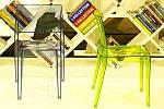 Стул GYZA прозрачно-оранжевый, фото 3