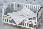 """Конверт-трансформер с плюшем Минки для новорожденного """"Белый в звездочку"""", фото 4"""