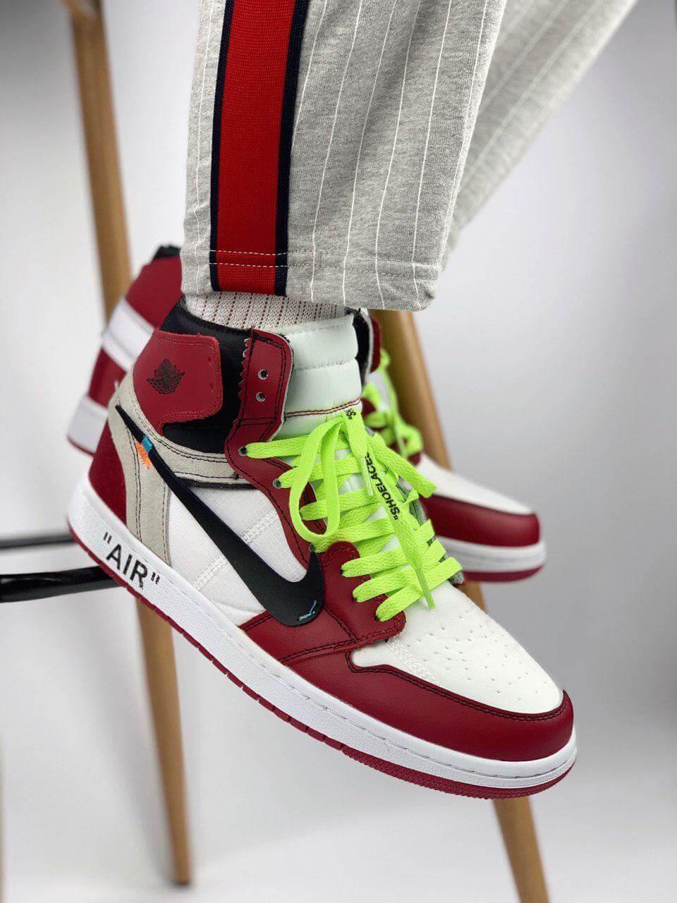 412b7dcd Кроссовки Air Jordan 1 x Off White Chicago - Интернет магазин обуви  «im-РоLLi