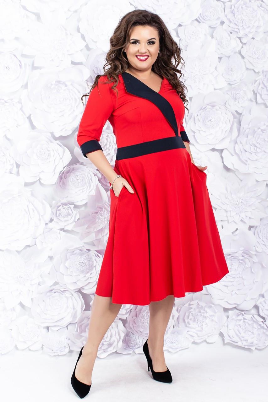 674bd6c2ff9 Платье миди с юбкой солнце клеш 50-56 р ( разные цвета ) - Оптовый