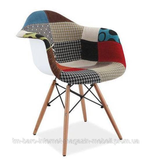 Кресло Denis II (Денис II) пэчворк, Signal (Прайз), Eames