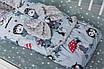 """Конверт-трансформер с плюшем Минки для новорожденного """"Совы"""", фото 4"""