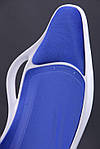 Кресло Nitro белый, сиденье Неаполь N-20/спинка Сетка синяя, Бесплатная доставка, фото 7