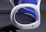 Кресло Nitro белый, сиденье Неаполь N-20/спинка Сетка синяя, Бесплатная доставка, фото 8