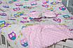 """Конверт-трансформер с плюшем Минки для младенца утепленный  """"Розовые совушки"""", фото 2"""