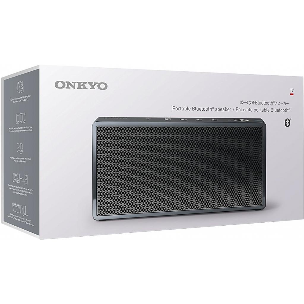 Портативная акустика ONKYO bluetooth T3 черный Bluetooth