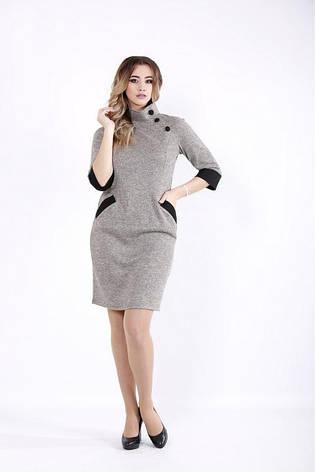 Женское трикотажное платье офисное на каждый день размеры:42-74, фото 2