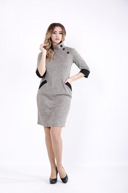 Женское трикотажное платье офисное на каждый день размеры:42-74