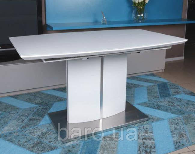 Стол обеденный DALLAS (140/180*85*76cmH) белый, Nicolas