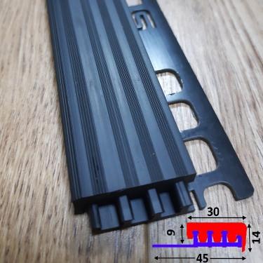 Антискользящая накладка на ступени закладная под плитку Чёрный