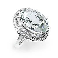 Кольцо серебряное с белым топазом 065 размер 17.75