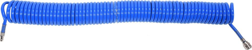 Шланг спиральный воздушный быстросъёмный 8х12мм 15 метров YATO YT-24209