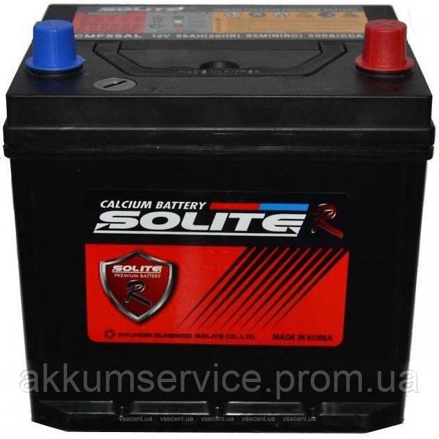 Аккумулятор автомобильный Solite Asia 62AH L+ 600A