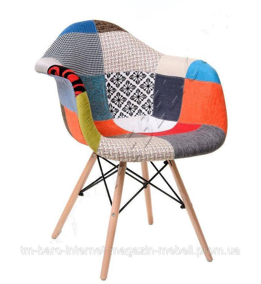 Кресло M-02, пэчворк (Прайз), Eames