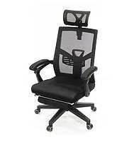 Кресло офисное на колесиках Логан PL ANF черного цвета из ткани