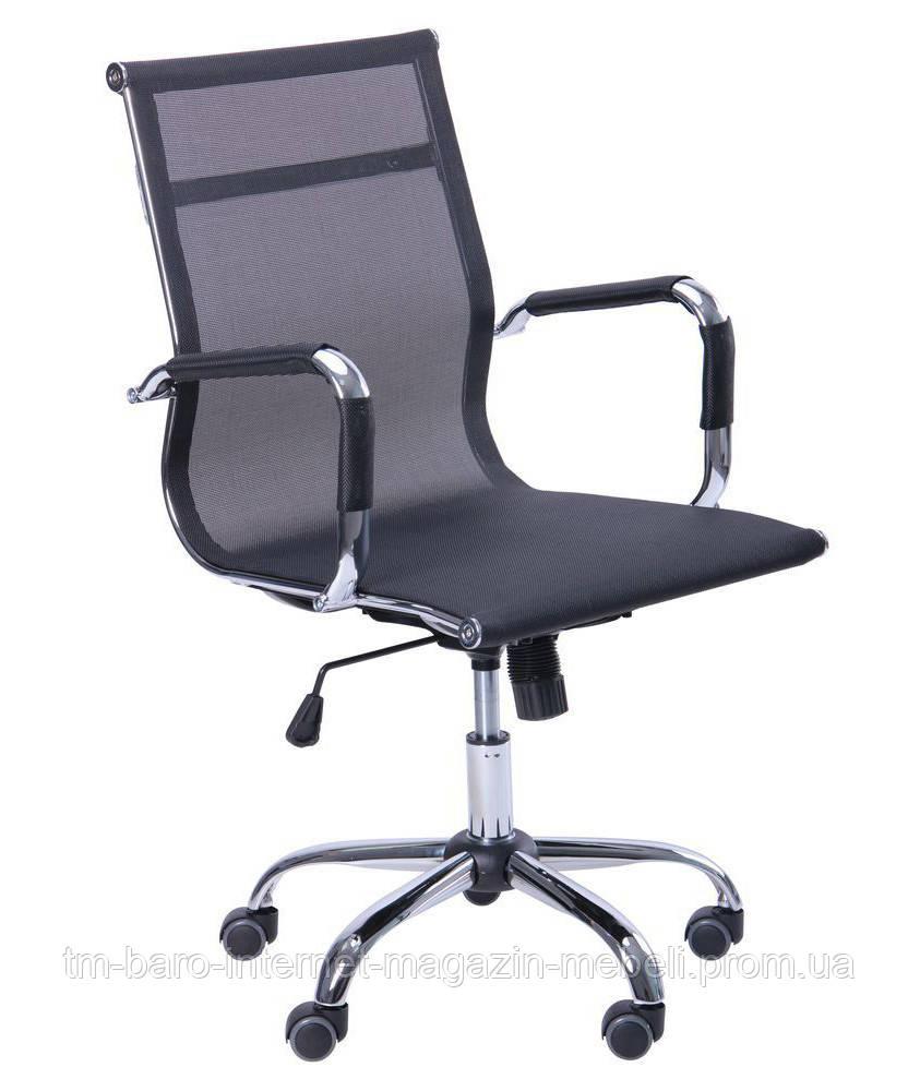 Кресло Slim Net LB (XH-633B) черный, сетка