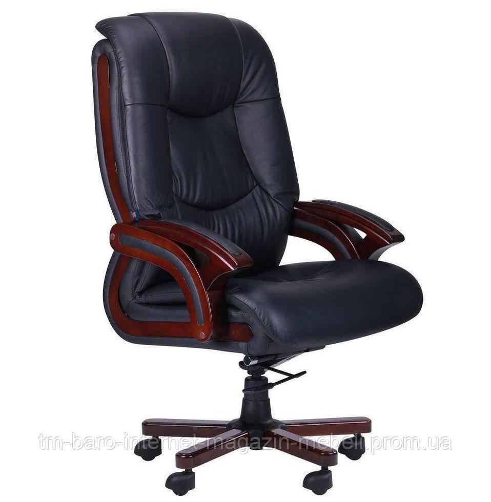 Кресло Ванкувер, кожа кожа черная (625-B+PVC)