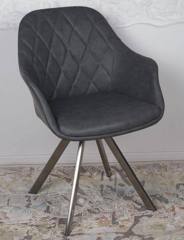 Кресло поворотное Almeria (Алмерия), серый кожзам (Бесплатная доставка), Nicolas