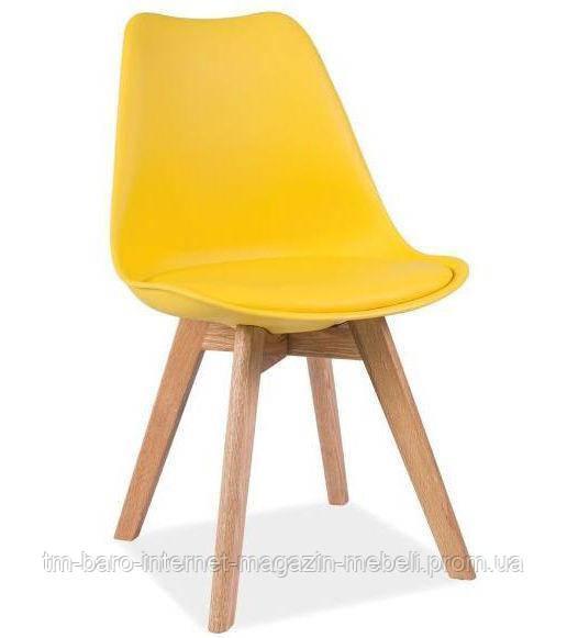 Стул Kris (Крис) желтый, дуб, Signal
