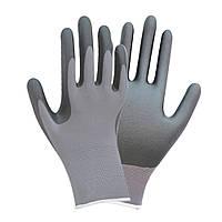 Перчатки трикотажные с частичным нитриловым покрытием р9 (серые манжет) Sigma (9443511)