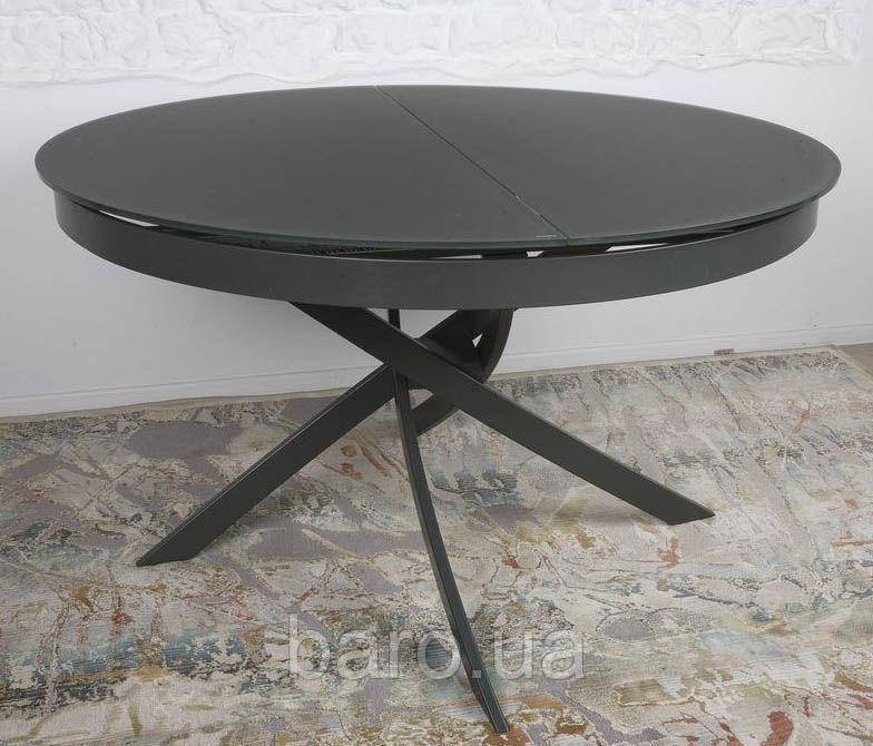 Стол обеденный CAMBRIDGE (125/50*75cmH) графит, Nicolas