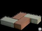 """Тротуарная плитка """"Кирпич"""" 100*200*40 (серый, сухопрессованная, фото 2"""