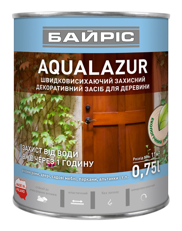 Aqualazur швидковисихаюча БАЙРІС сосна 0,75 л   /6шт/