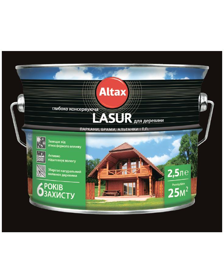 Lasur глибококонсервуюча для деревини ALTAX безбарвна 2,5 л