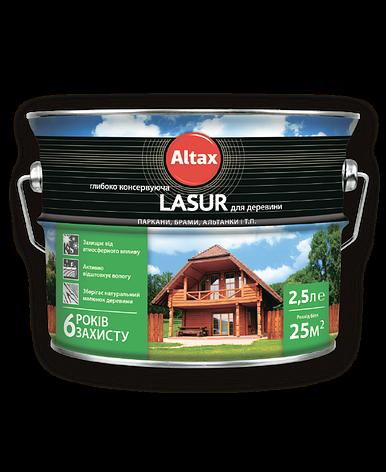 Lasur глибококонсервуюча для деревини ALTAX безбарвна 2,5 л, фото 2