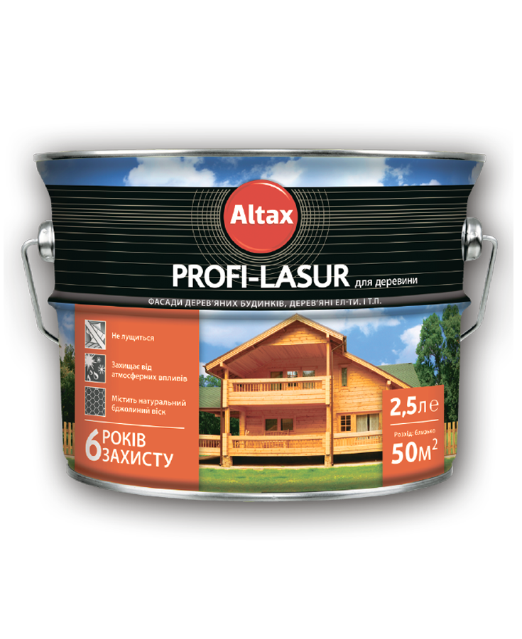 Profi-Lazur для деревини ALTAX безбарвна 0,75 л   /6шт/