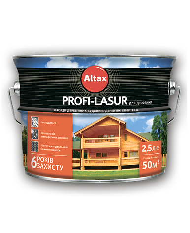 Profi-Lazur для деревини ALTAX дуб 2,5 л, фото 2