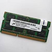 Оперативная память для ноутбука Micron SODIMM DDR3 4Gb 1333MHz 10600s CL9 (MT16JSF51264HZ-1G4D1) Б/У, фото 1
