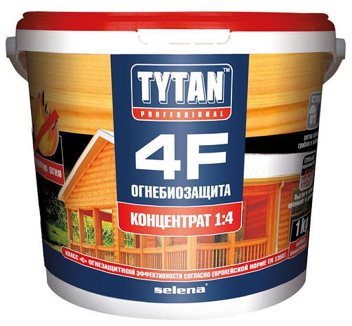 Вогнебіозахист 4F концентрат 1:4 червоний TYTAN 5 кг, фото 2