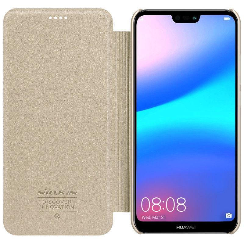 Чехол-книжка Huawei P20 Lite gold Nilkin