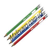 Карандаш чернографитный трехгранный c ластиком, мягкость 2B TM Colorino Colorino