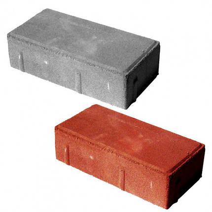 """Тротуарная плитка """"Кирпич"""" 100*200*60 (серый, красный, черный, желтый, коричневый), сухопрессованная, фото 2"""
