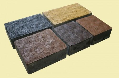 Тротуарная плитка Львовский камень (Красный, черный, желтый,коричневый, персиковый), супрессованная