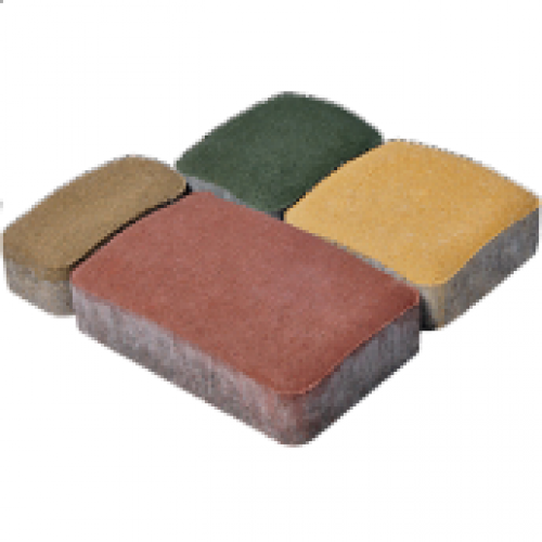 """Тротуарная плитка """"Старый город"""" 60 мм. (красный,черный, желтый, коричневый, персиковый), сухопрессованная"""