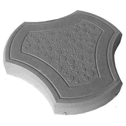 "Тротуарная плитка ""Бикини"" 40 мм серый, вибролитая, фото 2"