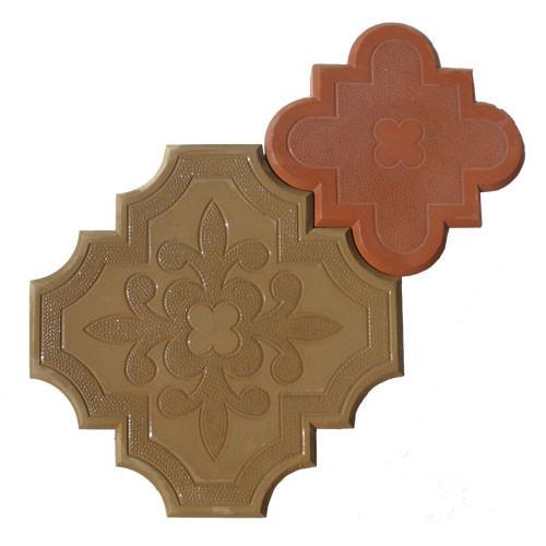 """Тротуарная плитка """"Гжель"""" 40 мм (желтый, коричневый), вибролитая"""