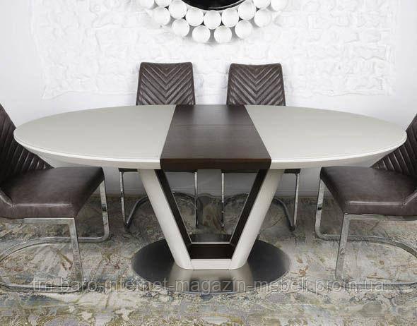 Стол обеденный DENVER (140/180)*95*76 cm) крем/венге, Nicolas